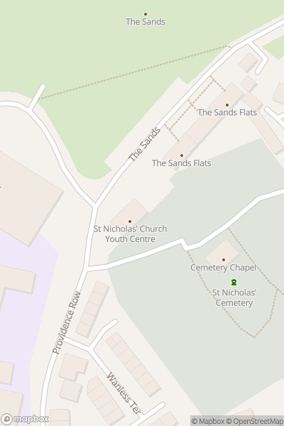 A map indicating the location of Durham Pride