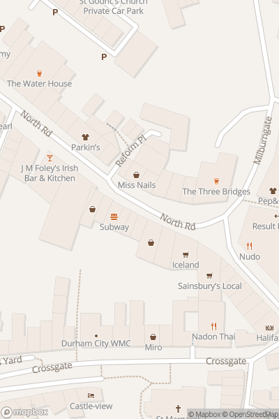 A map indicating the location of Lumiere Durham