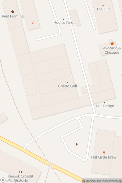 A map indicating the location of Ghetto Golf Newcastle