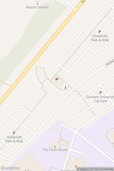 A map indicating the location of Durham Vintage Bus Gathering