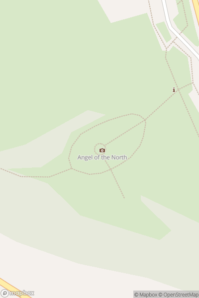 A map indicating the location of Angel of the North