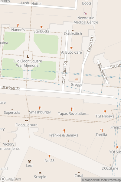 A map indicating the location of Blackett Street Family Fun Weekends