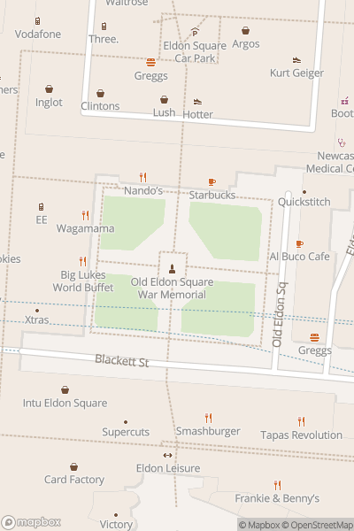 A map indicating the location of NE1 Screen on the Green