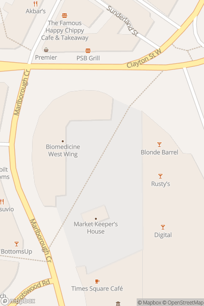 A map indicating the location of Central Park in Newcastle
