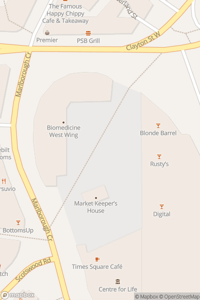 A map indicating the location of Oktoberfest NCL
