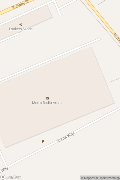 A map indicating the location of Utilita Arena