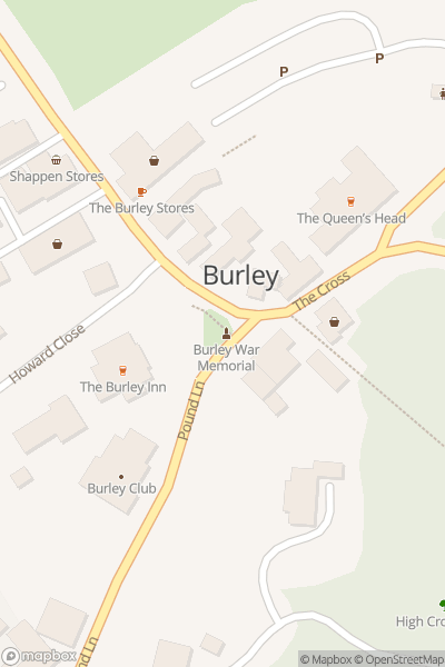 A map indicating the location of Burley