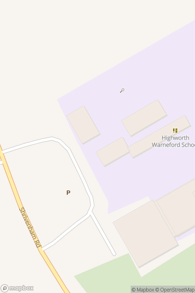 A map indicating the location of Warneford School
