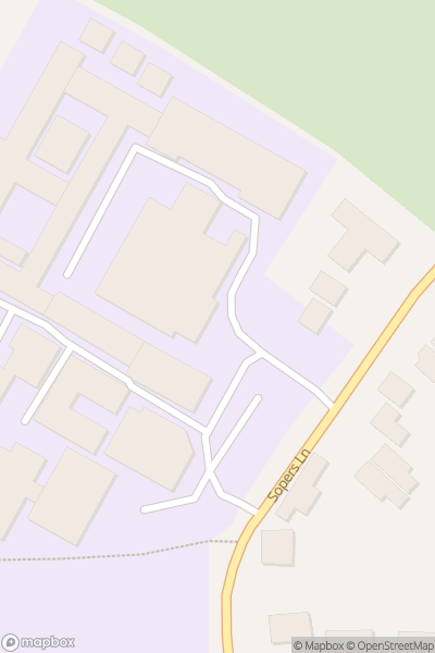 A map indicating the location of Twynham School