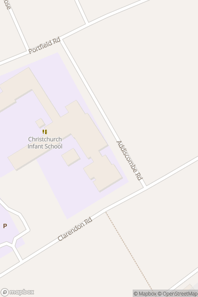A map indicating the location of Christchurch Infant School