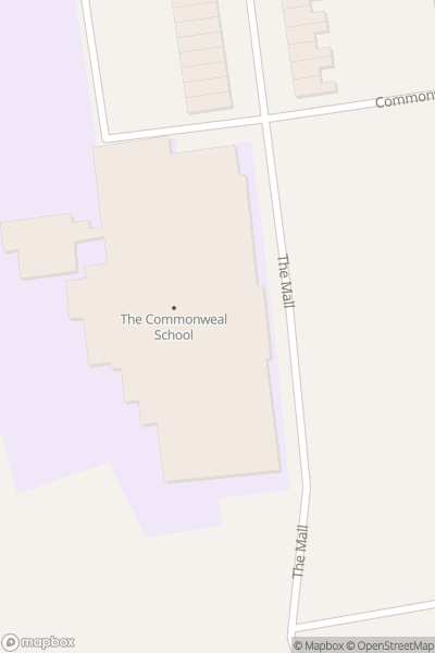 A map indicating the location of Commonweal School