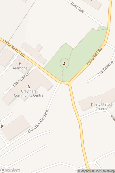 A map indicating the location of Ringwood