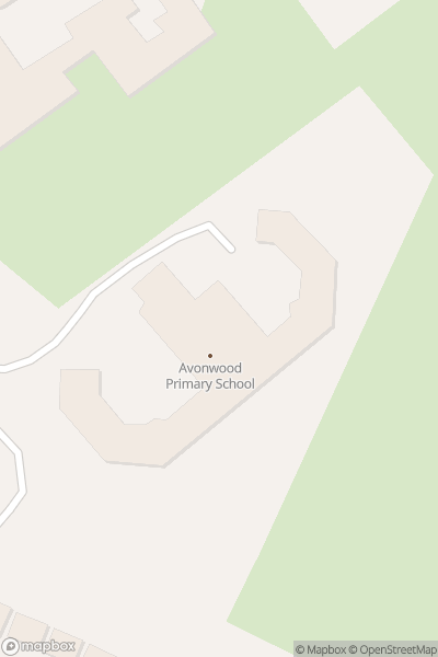 A map indicating the location of Avonwood School