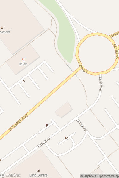 A map indicating the location of Cineworld at Shaw Ridge Leisure Park