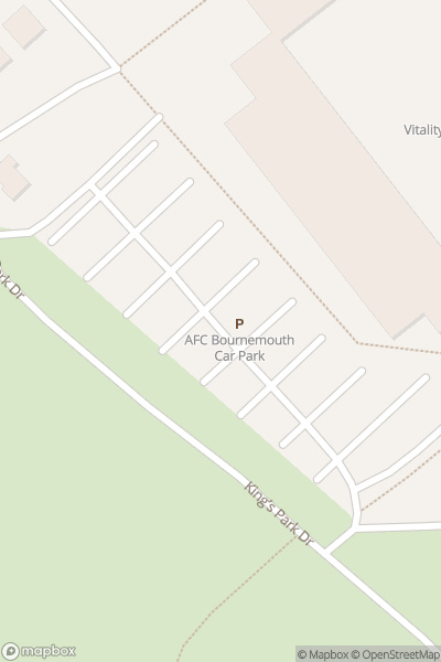 A map indicating the location of AFC Bournemouth at the Vitality Stadium