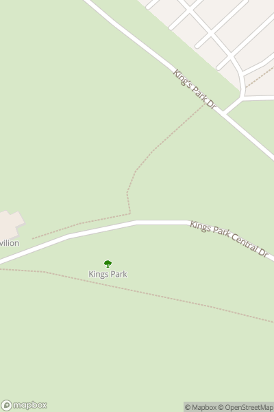 A map indicating the location of Kings Park