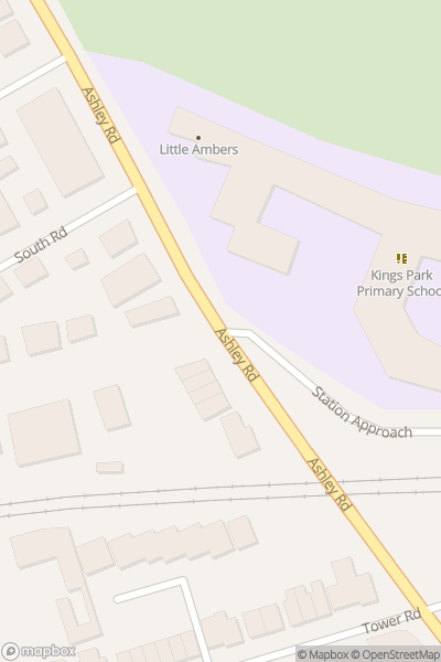 A map indicating the location of Kings Park Academy