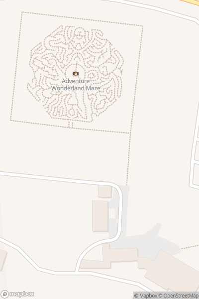 A map indicating the location of Adventure Wonderland