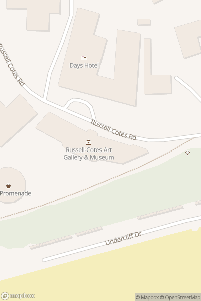 A map indicating the location of Russell-Cotes Art Gallery & Museum
