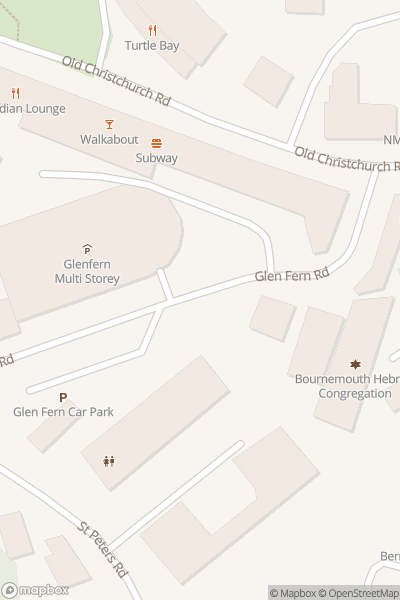 A map indicating the location of Oasis Fun Bournemouth
