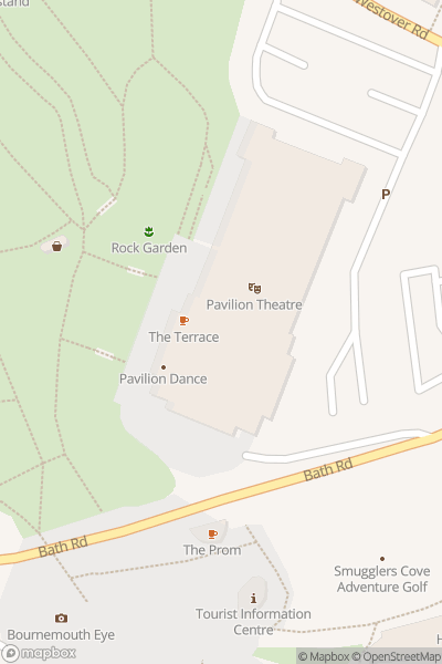 A map indicating the location of Pavilion Dance South West