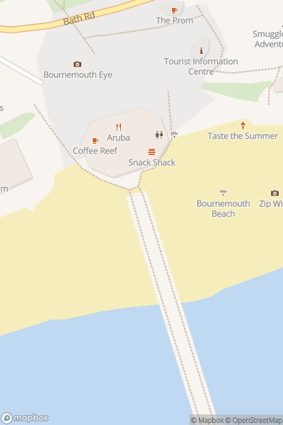 A map indicating the location of Health-on-Line Bournemouth Bay Run 2020