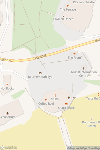 A map indicating the location of Golden Tours Bournemouth
