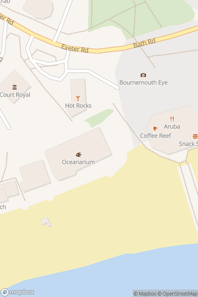 A map indicating the location of Oceanarium Bournemouth