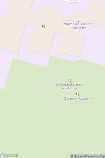 A map indicating the location of Winton Academy