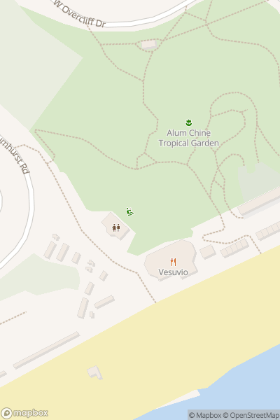 A map indicating the location of Alum Chine Play Park