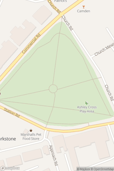 A map indicating the location of Grooves on the Green