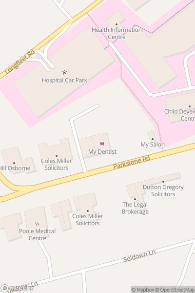 A map indicating the location of Rockley Watersports