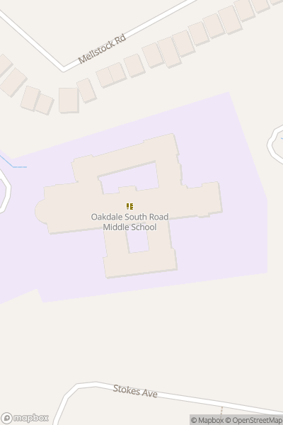 A map indicating the location of Oakdale Junior School