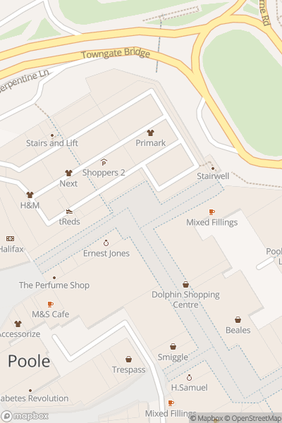 A map indicating the location of The Dolphin Centre
