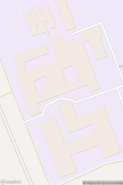 A map indicating the location of Poole High School
