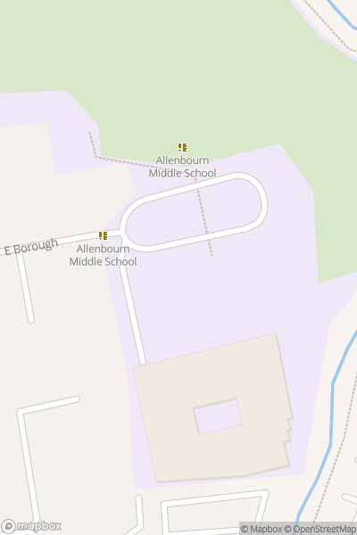A map indicating the location of Allenbourn Middle School