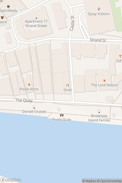 A map indicating the location of Poole Santa Parade