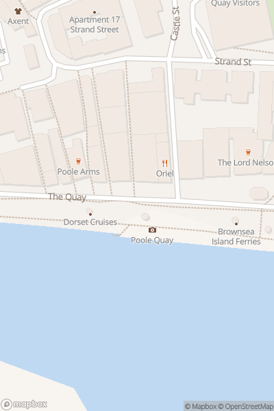 A map indicating the location of City Cruises Poole