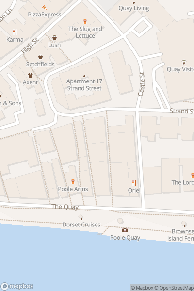 A map indicating the location of Habour Station Cafe