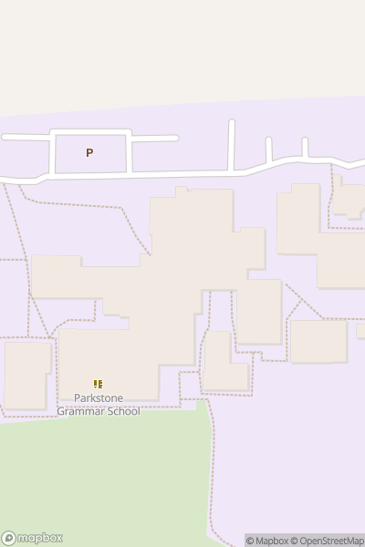A map indicating the location of Parkstone Grammar School