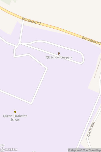 A map indicating the location of Queen Elizabeth School