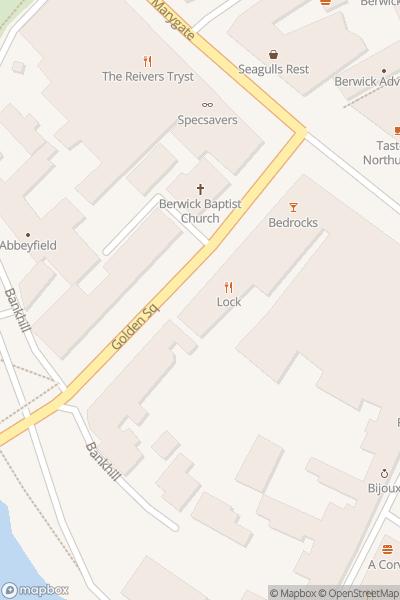 A map indicating the location of Royal Border Bridge Illuminations