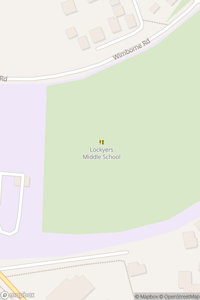 A map indicating the location of Lockyer's School