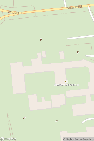 A map indicating the location of Purbeck School