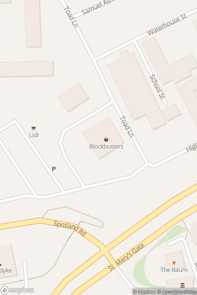 A map indicating the location of Rochdale Pioneers Museum