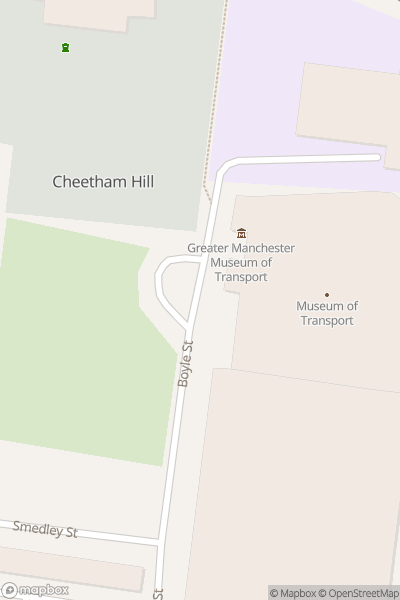 A map indicating the location of Museum of Transport, Greater Manchester