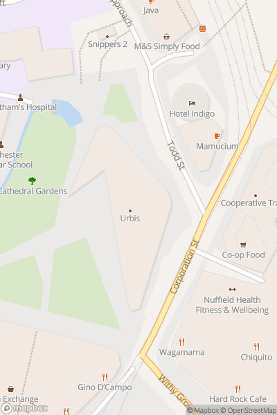 A map indicating the location of National Football Museum