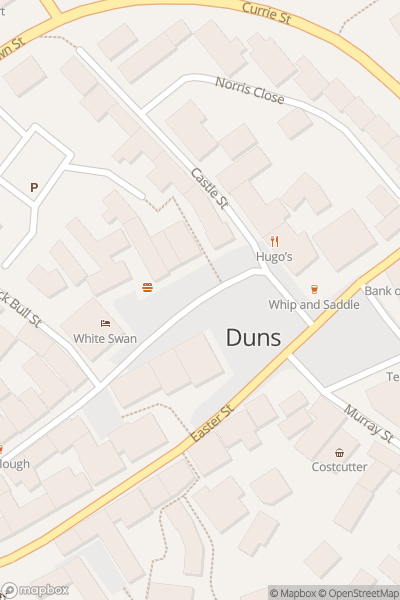 A map indicating the location of Duns Summer Festival