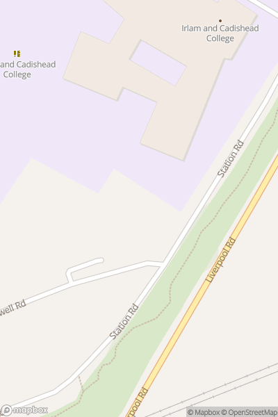 A map indicating the location of Irlam & Cadishead Academy
