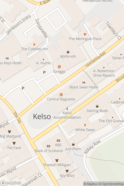 A map indicating the location of Kelso Civic Week